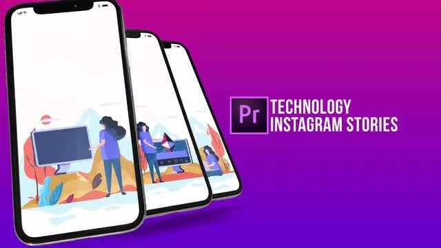 Technology - Instagram Stories: Motion Graphics Templates