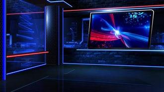 Virtual Newsroom Neon Close: Motion Graphics