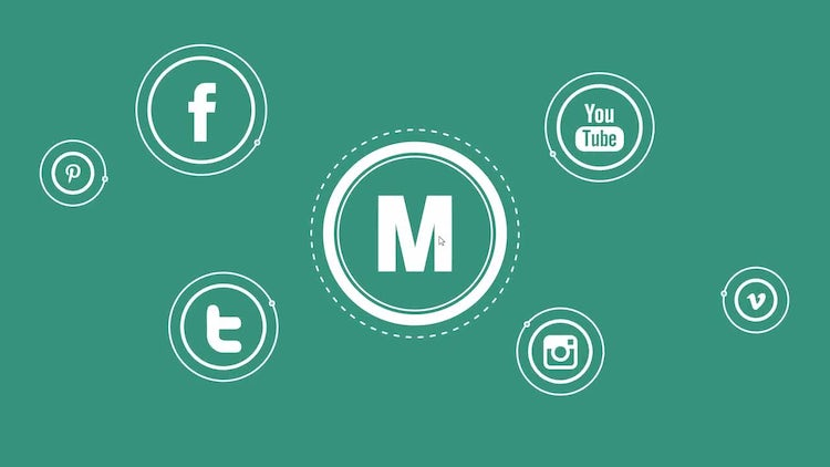 Media Flat Logo: After Effects Templates