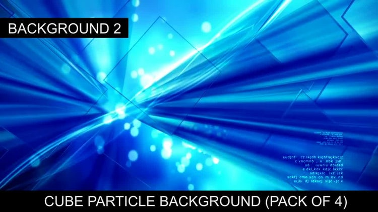 Cube Particle Background: Stock Motion Graphics