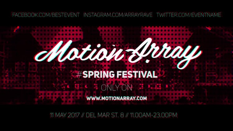 Music Event Promo: Premiere Pro Templates