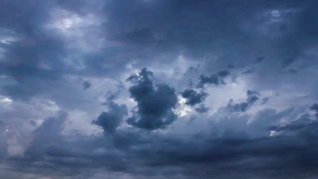 Evening Overcast Clouds: Stock Video