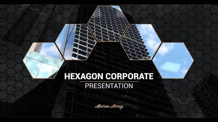 hexagon corporate presentation - after effects templates | motion, Presentation templates