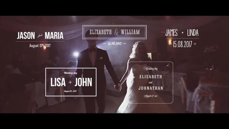 11 Wedding Titles: Premiere Pro Templates