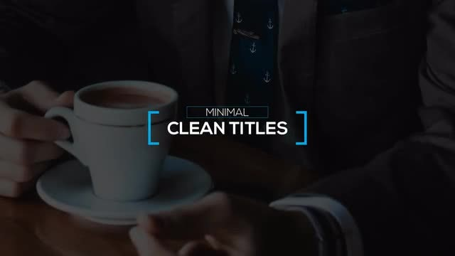 Unique Minimal Titles: After Effects Templates