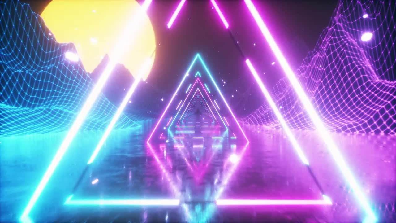 80's Retro Background - Stock Motion Graphics | Motion Array