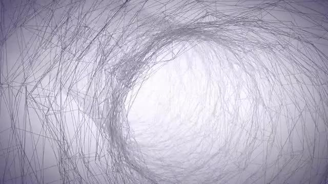 Wire Tunnel: Stock Motion Graphics