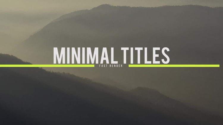 Simple Titles: Premiere Pro Templates
