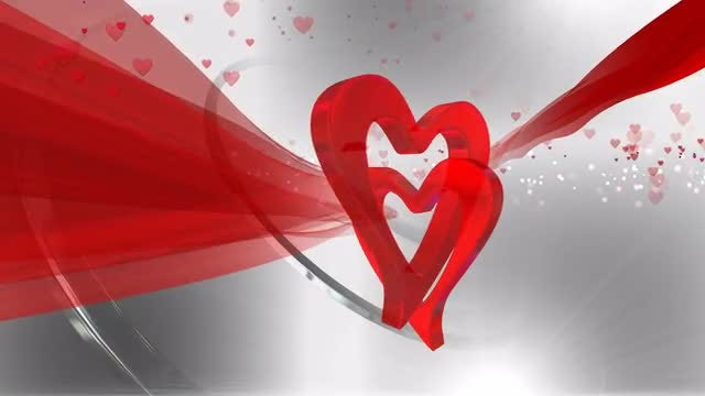 Heart Shaped Background : Stock Motion Graphics