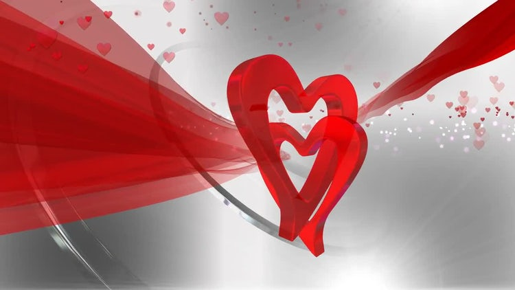 Heart Shaped Background : Motion Graphics