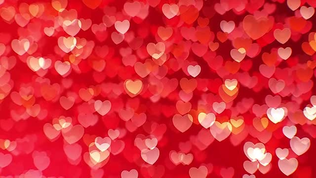 Flying Hearts Background: Stock Motion Graphics