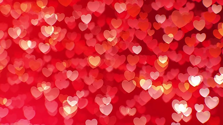 Flying Hearts Background: Motion Graphics