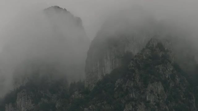 Foggy Mountain: Stock Video
