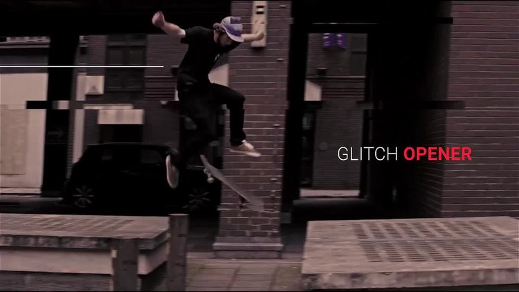 Production Reel Glitch Opener: After Effects Templates