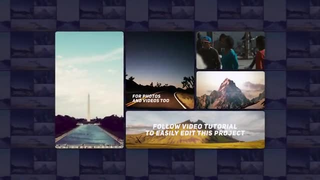 3d Collage Intro: After Effects Templates