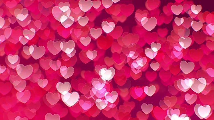 Floating Hearts Background: Stock Motion Graphics