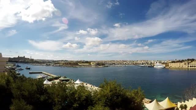 Time-Lapse Of Sliema City: Stock Video