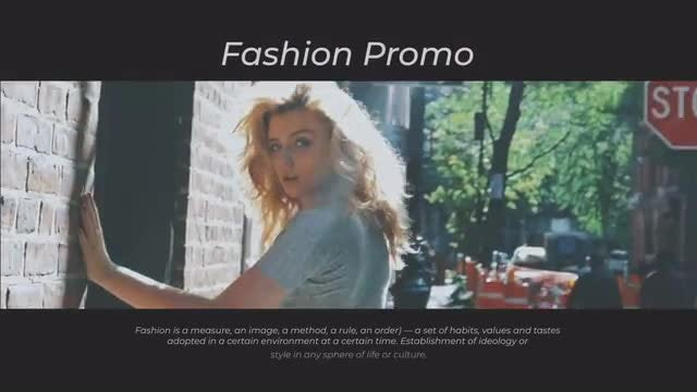 Promo Fashion: After Effects Templates