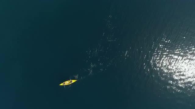 Kayaking At Sea: Stock Video