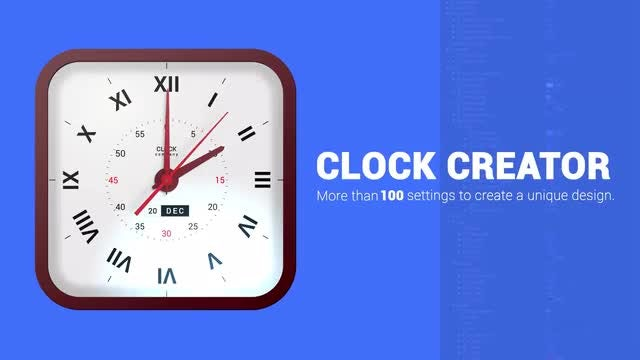 Analog Clock Creator: After Effects Templates