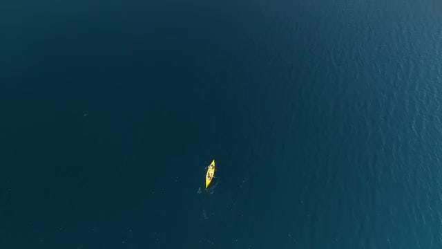 Kayak In The Sea: Stock Video