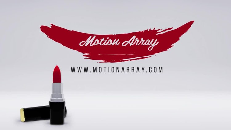 Lipstick Stylish Women Logo: After Effects Templates