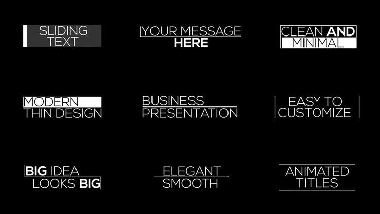 9 Elegant Animated Titles: After Effects Templates