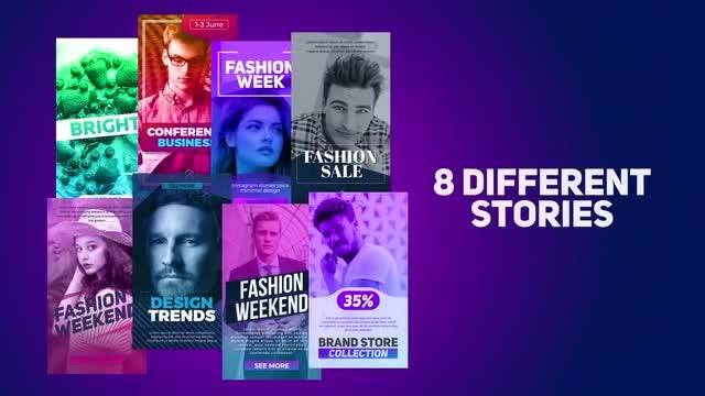 8 Different Stories: After Effects Templates