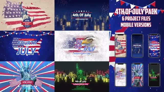 4th Of July Pack: After Effects Templates