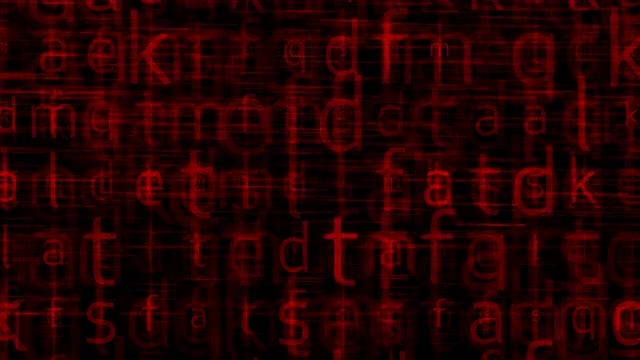 Digital Glitch Letters: Stock Motion Graphics