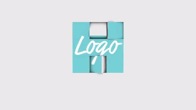 3D Blocks Logo Reveal: After Effects Templates