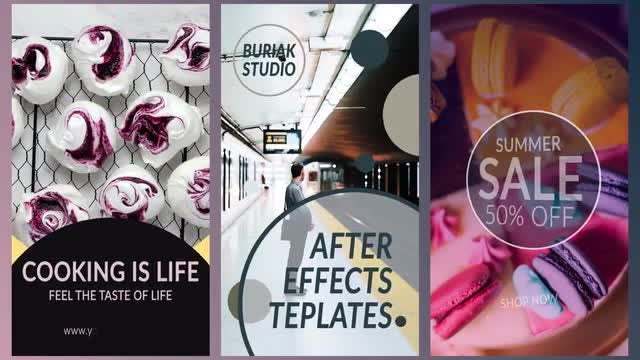 10 Instagram Stories: Motion Graphics Templates