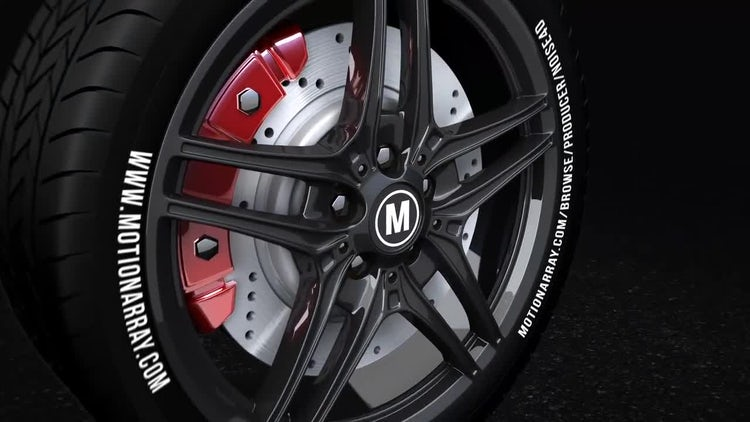 Car Wheel - Automotive Logo: After Effects Templates