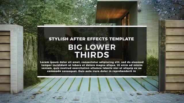 BIG Lower Thirds II: Premiere Pro Templates