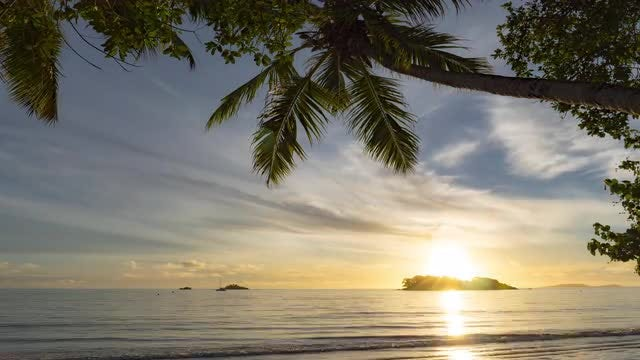 Ocean Sunrise Time-Lapse: Stock Video
