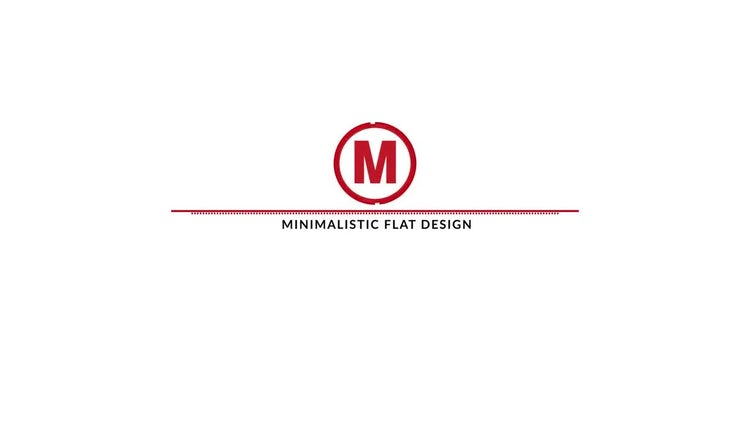 Minimalistic Flat Logo Reveal: After Effects Templates
