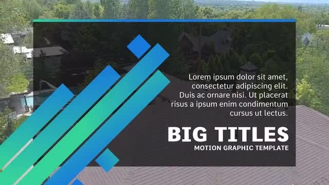 Big Titles: Motion Graphics Templates