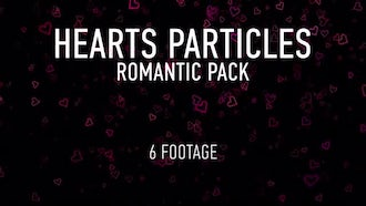 Hearts Particles Romantic Pack: Motion Graphics