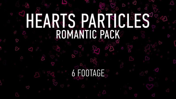 Hearts Particles Romantic Pack: Stock Motion Graphics