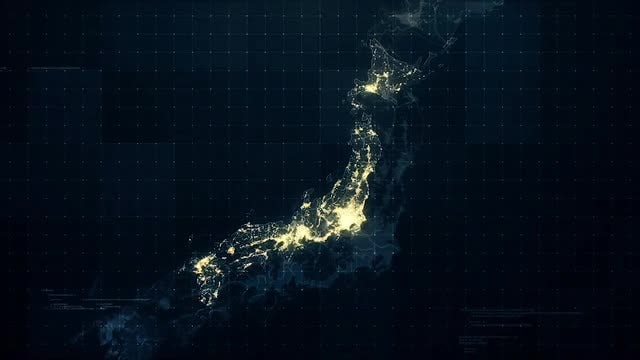 Pack of Japan Maps: Stock Motion Graphics