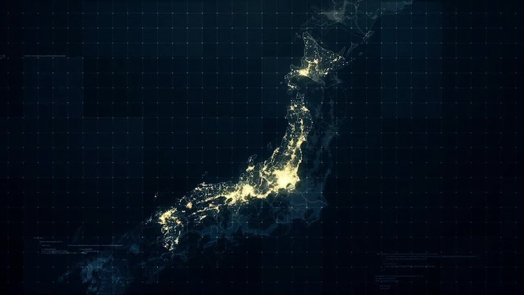 Pack of Japan Maps: Motion Graphics