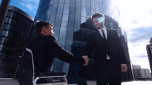 Businessmen Shake Hands: Stock Video