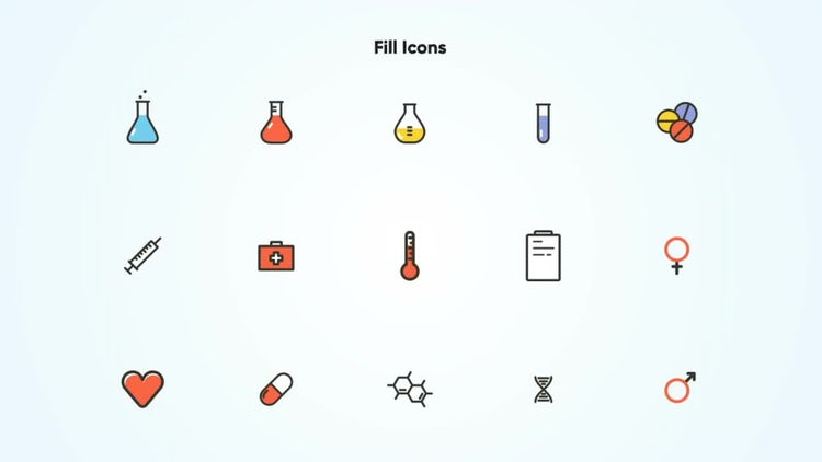 Animated Medical Icons Vector: After Effects Templates