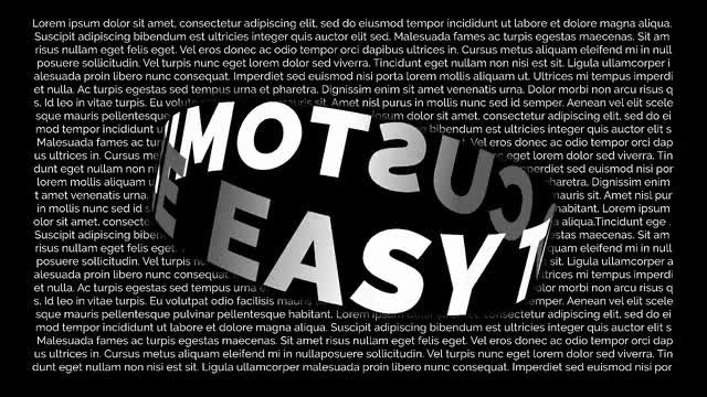 Black & White Typo: After Effects Templates