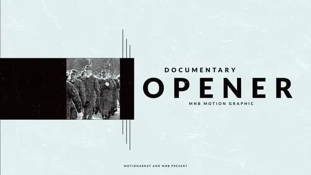 Cinematic Documentary: After Effects Templates