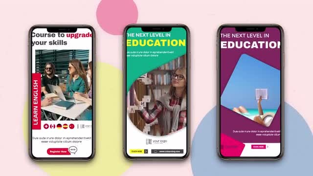 Instagram Stories: Educational: After Effects Templates