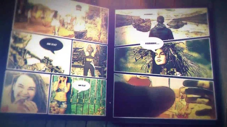 Comic Book Promo: After Effects Templates