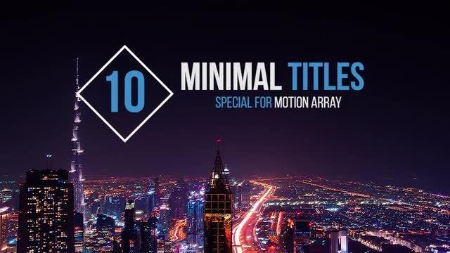 10 Minimal Titles: Premiere Pro Templates