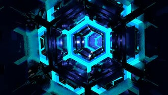 Loopable sci fi tunnel: Motion Graphics