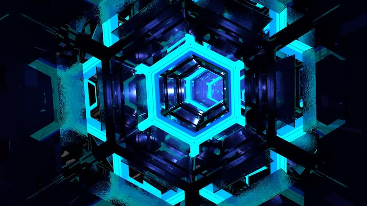 Loopable sci fi tunnel: Stock Motion Graphics